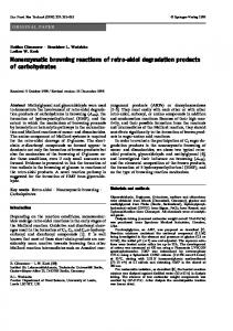 Nonenzymatic browning reactions of retro-aldol ... - Springer Link