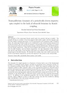 Nonequilibrium Dynamics of a Periodically-driven ...