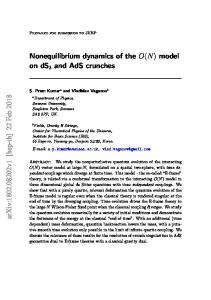 Nonequilibrium dynamics of the O(N) - arXiv