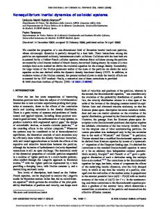 Nonequilibrium inertial dynamics of colloidal systems