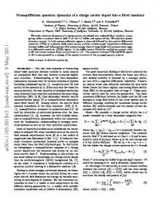 Nonequilibrium quantum dynamics of a charge carrier doped into a ...