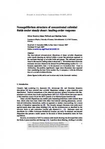 Nonequilibrium structure of concentrated colloidal ... - Semantic Scholar