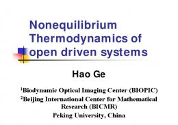 Nonequilibrium Thermodynamics of open driven systems