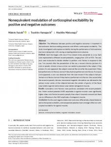 Nonequivalent modulation of corticospinal ... - Wiley Online Library