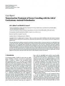Nonextraction Treatment of Severe Crowding with the Aid of ...