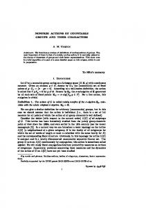 NONFREE ACTIONS OF COUNTABLE GROUPS AND ... - CiteSeerX