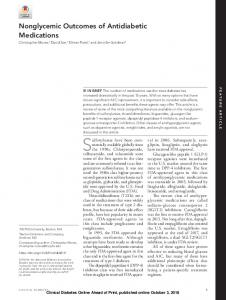 Nonglycemic Outcomes of Antidiabetic Medications - Clinical Diabetes