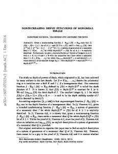 Nonincreasing depth functions of monomial ideals