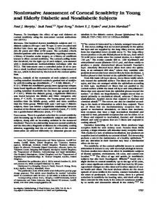 Noninvasive Assessment of Corneal Sensitivity in Young and ... - ORCA