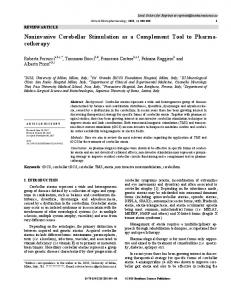 Noninvasive Cerebellar Stimulation as a Complement ...