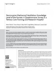 Noninvasive Mechanical Ventilation Knowledge