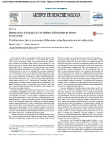 Noninvasive Mechanical Ventilation. Reflections on