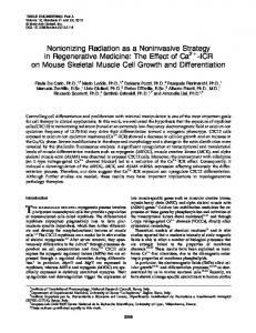 Nonionizing Radiation as a Noninvasive Strategy in Regenerative ...