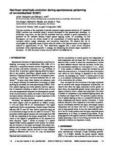 Nonlinear amplitude evolution during ... - Projects at Harvard