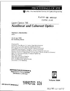 Nonlinear and Coherent Optics