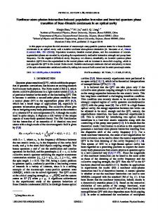 Nonlinear atom-photon-interaction-induced ... - APS Link Manager