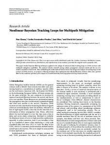 Nonlinear Bayesian Tracking Loops for Multipath Mitigation
