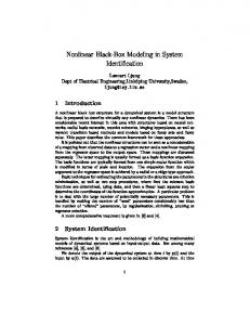 Nonlinear Black-Box Modeling in System Identification