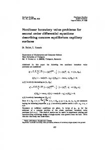 Nonlinear boundary value problems for second order