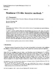 Nonlinear CG-like iterative methods - Science Direct
