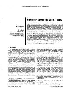 Nonlinear Composite Beam Theory - Dymore