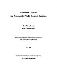 Nonlinear Control for Automatic Flight Control ...