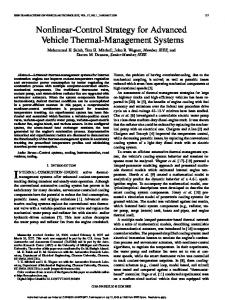 Nonlinear-Control Strategy for Advanced Vehicle Thermal ...