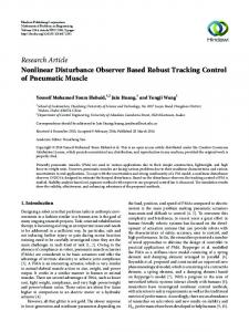 Nonlinear Disturbance Observer Based Robust Tracking Control of ...