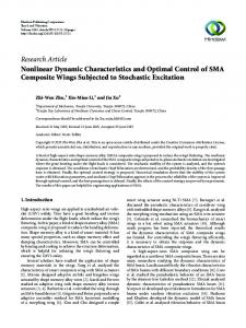 Nonlinear Dynamic Characteristics and Optimal Control of SMA ...