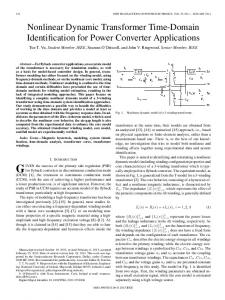 Nonlinear Dynamic Transformer Time-Domain ... - IEEE Xplore