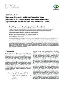 Nonlinear Dynamics and Exact Traveling Wave Solutions of the
