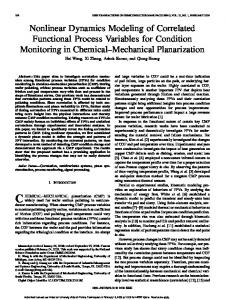 Nonlinear Dynamics Modeling of Correlated Functional ... - CiteSeerX