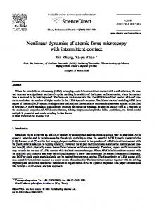 Nonlinear dynamics of atomic force microscopy with intermittent contact