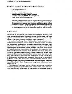 Nonlinear equations of deformation of atomic lattices