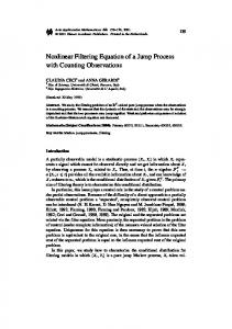 Nonlinear Filtering Equation of a Jump Process with ... - Springer Link