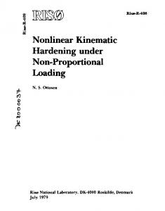 Nonlinear Kinematic Hardening under Non-Proportional Loading