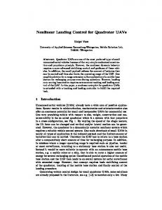 Nonlinear Landing Control for Quadrotor UAVs