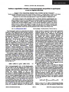 Nonlinear magnetization relaxation of ... - APS Link Manager
