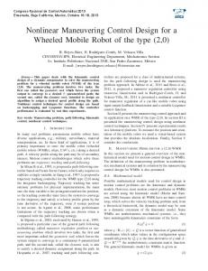 Nonlinear Maneuvering Control Design for a Wheeled
