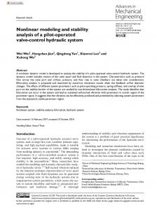Nonlinear modeling and stability analysis of a pilot