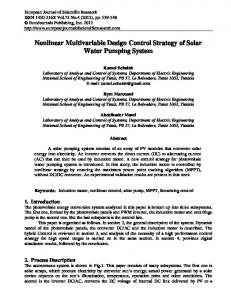 Nonlinear Multivariable Design Control Strategy of ...