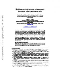 Nonlinear optical contrast enhancement for optical coherence ...