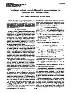 Nonlinear Optimal Control: Numerical Approximations Via Moments ...