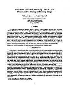 Nonlinear Optimal Tracking Control of a Piezoelectric Nanopositioning
