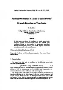 Nonlinear oscillation of a class of second-order dynamic equations ...