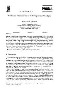Nonlinear phenomena in heterogeneous catalysis