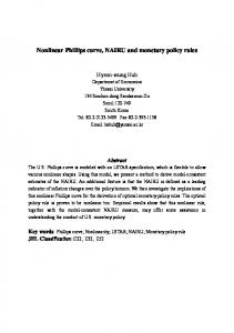 Nonlinear Phillips curve, NAIRU and monetary policy rules - CiteSeerX