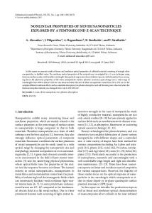 nonlinear properties of silver nanoparticles explored by ... - LMA leidykla