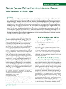 Nonlinear Regression Models and Applications in ...