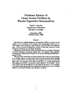 Nonlinear Solution of Linear Inverse Problems by Wavelet-Vaguelette ...